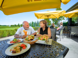 Couple dining at The Grill at Lewis Estates Golf Course