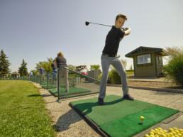 Driving range at Lewis Estates Golf Course