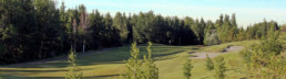 Lewis Estates Golf Course fairway and sand bunker