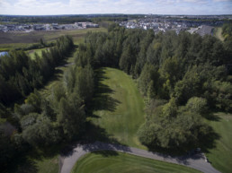Lewis Estates Golf Course tree-lined fairway and golf cart path