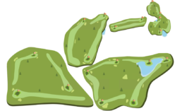 Lewis Estates Golf Course layout