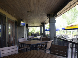 The Grill patio at Lewis Estates Golf Course