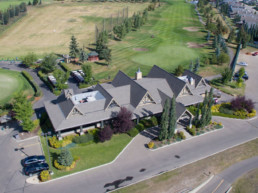 Aerial photo of the Lewis Estates Golf Course clubhouse
